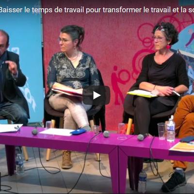 """JOURNÉE DE 32H :""""BAISSER LE TEMPS DE TRAVAIL POUR TRANSFORMER LE TRAVAIL ET LA SOCIÉTÉ""""."""