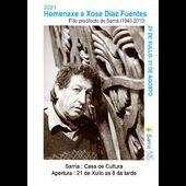 """Vernissage de l'exposition """"Hommage"""" à José Diaz Fuentes à Sarria, Lugo"""
