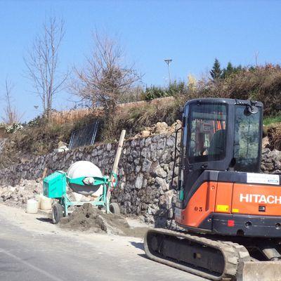 Réfection du mur chemin du Boutelha/route de Miguet