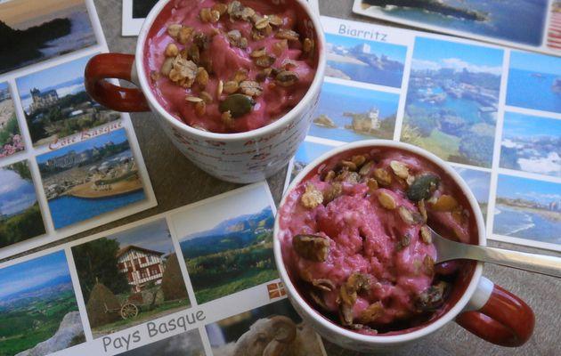 Frozen Yogurt fruité, végétalien & croustillant .... de retour d'Euskadi