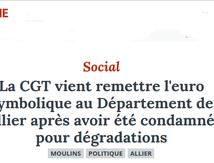ALLIER : La CGT contre la plainte du président du département !