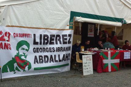 Georges Abdallah à la fête de l'Huma de Bordeaux.