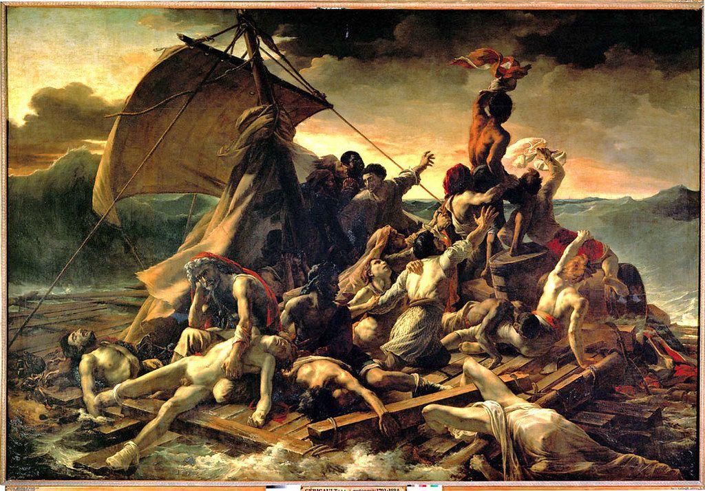 """""""Maître, nous sommes perdus!""""... """"Silence, tais-toi!"""" dit Jésus à la mer... Confiance! Adieu rive du monde ancien... Bonjour rive du monde nouveau!..."""