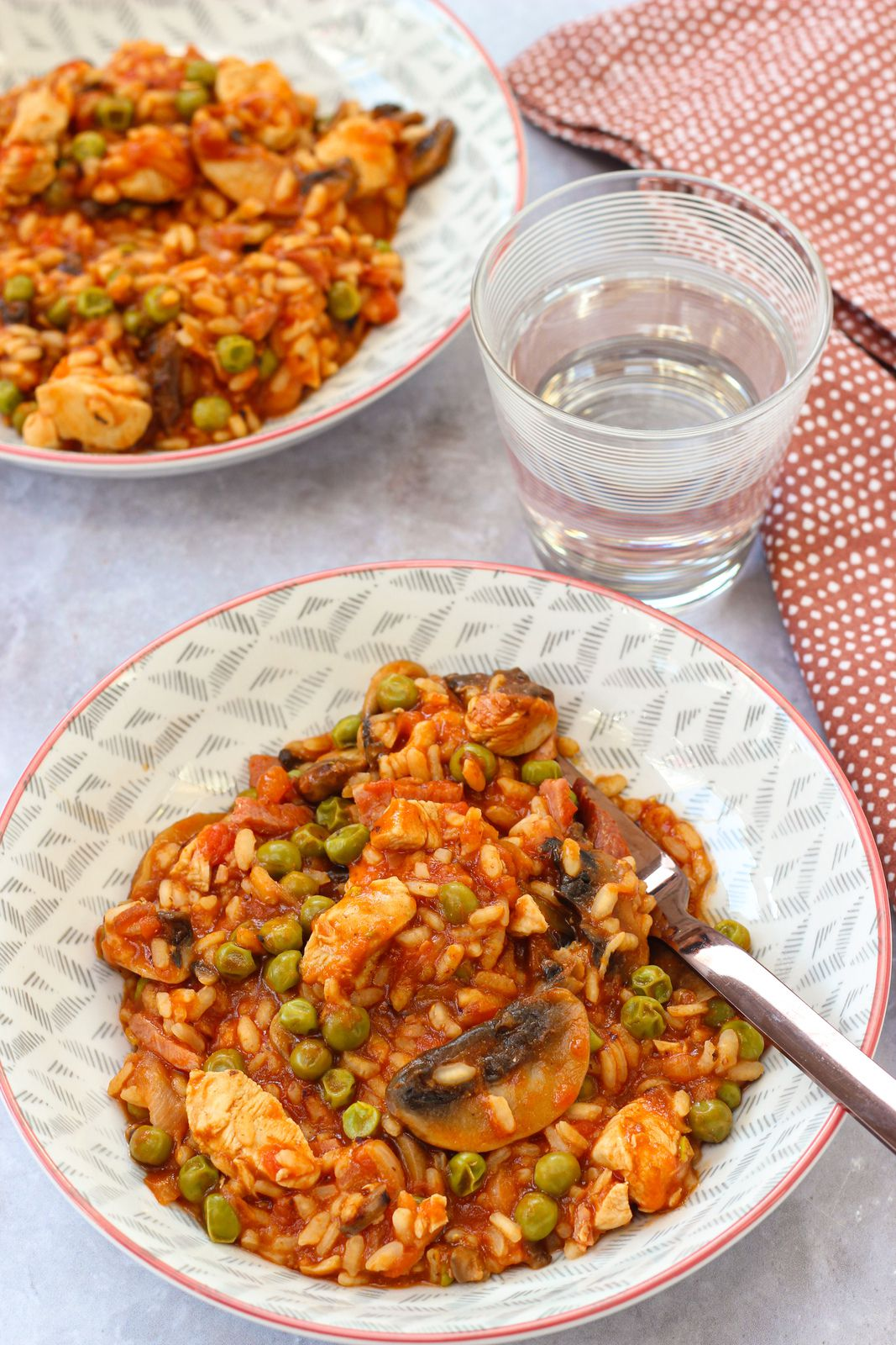 risotto poulet tomate champignons cookeo