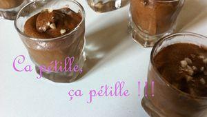 Mousse au chocolat pétillante !!
