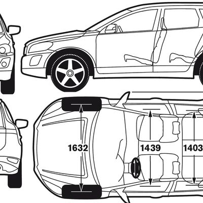 Blueprint of Volvo XC60 2012