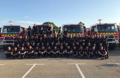ÉTÉ 2019 - Les 25 sapeurs-pompiers de la Haute-Garonne rentrent à la maison