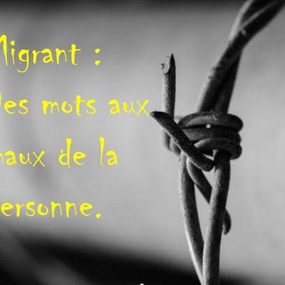 Migrant: des mots aux maux de la personne.