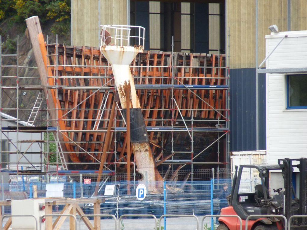 CALYPSO , en grande réparation aux chantiers Piriou à Concarneau en juin 2009