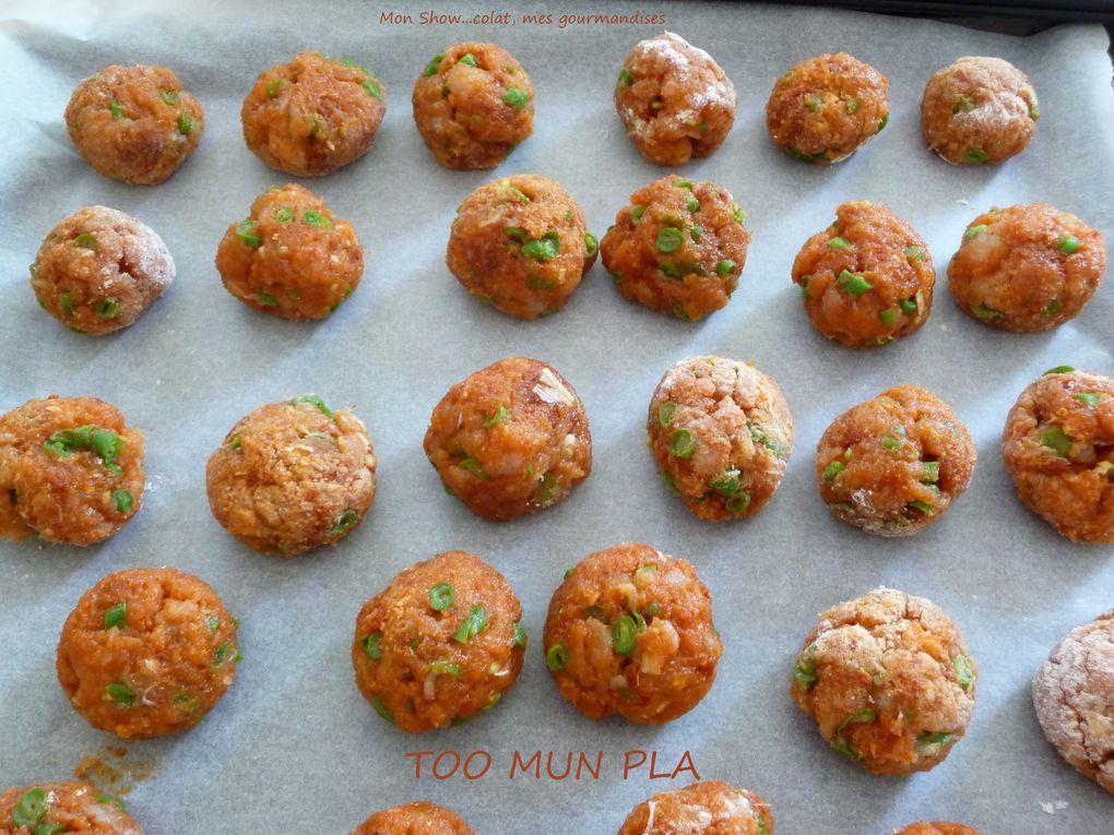 TOO MUN PLA (beignets de poisson Thaïlandais)