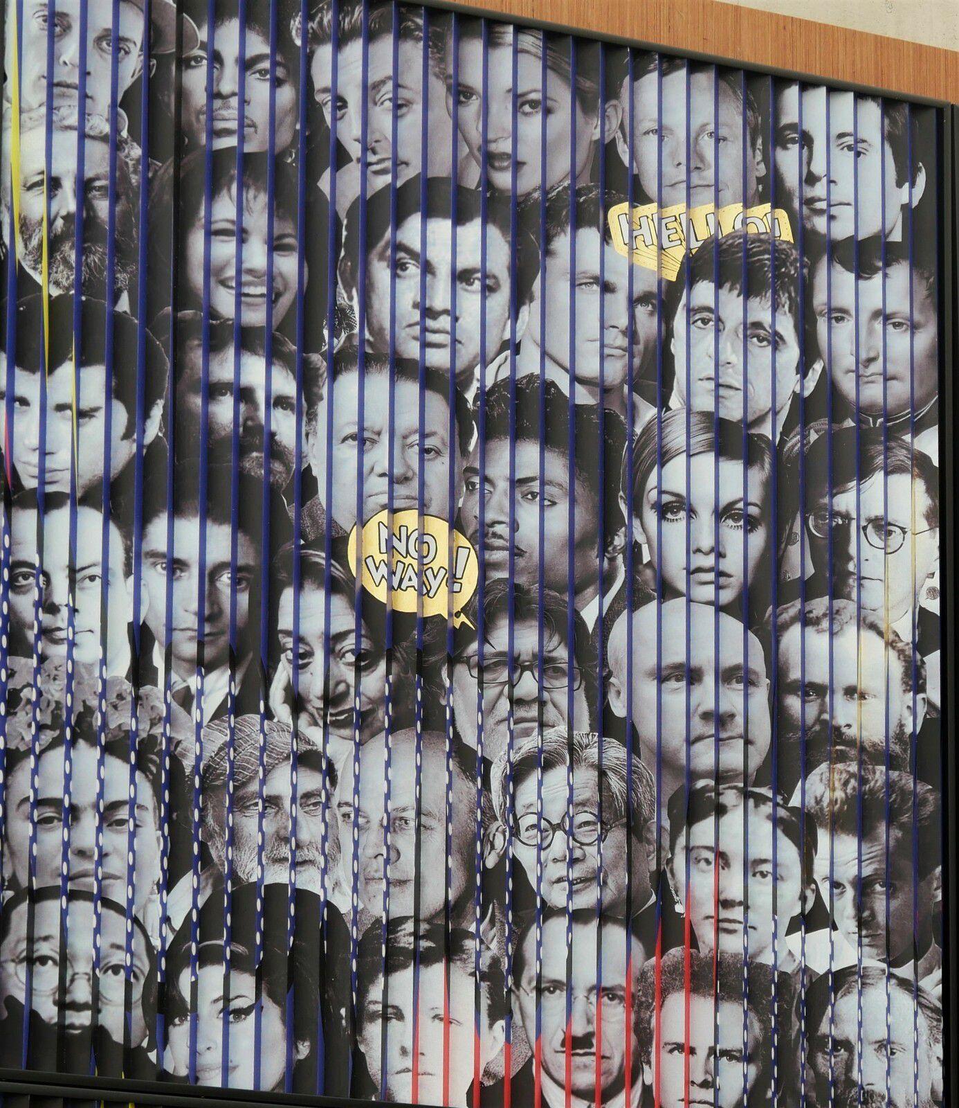 LOVE. Patrick Rubinstein. Montmartre. Opt Art ou Art Optique. Galerie place du Tertre.