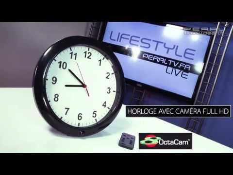 Une horloge avec une caméra cachée - [Mes premières vidéos chez PEARL]