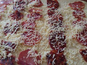Brioche salée Garnie de Chorizo et Lomo