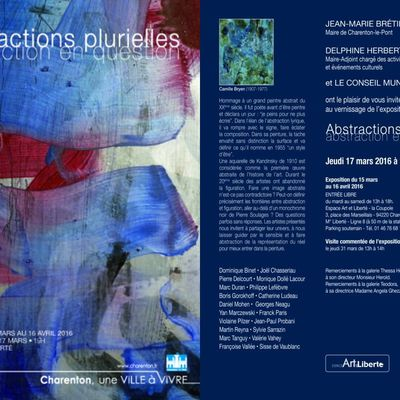 """""""Abstractions plurielles"""" (mars - avril 2016)"""