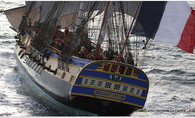 Traversée de l'Atlantique - l'Hermione bonne pour le service !