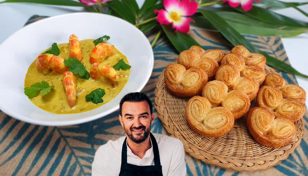 Tous en Cuisine : Les Crevettes Curry Coco et les Palmiers de Cyril Lignac !