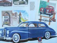 Rien d'ostentatoire chez Hotchkiss les lignes caractérisant des modèles d'après guerre sont une évolution de ceux d'avant guerre ; La modernité de style en même temps que l'originalité sont apparents sur le modèle Grégoire sorti en 1951