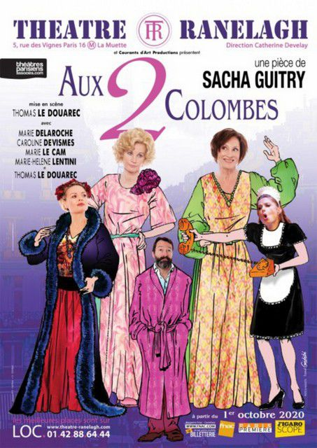 AUX 2 COLOMBES de Sacha GUITRY
