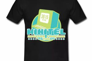 T shirt France Minitel invention française HNR