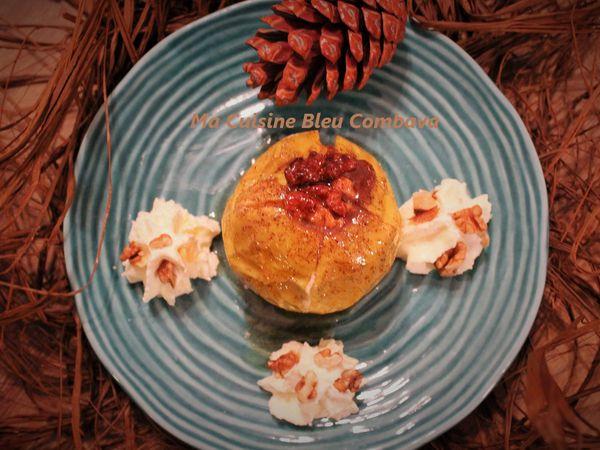 Pommes d'Automne au Four- Crème de Marron & Noix