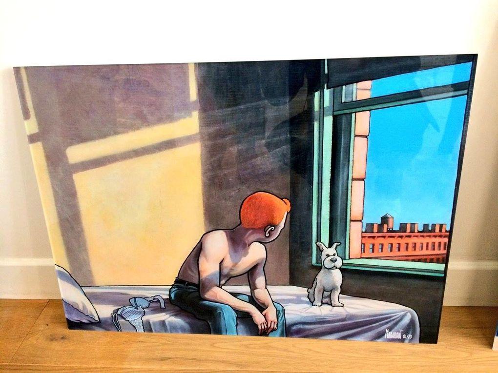 TINTIN FAÇON HOOPER PAR LE PEINTRE XAVIER MARABOUT / ARTS PLASTIQUES