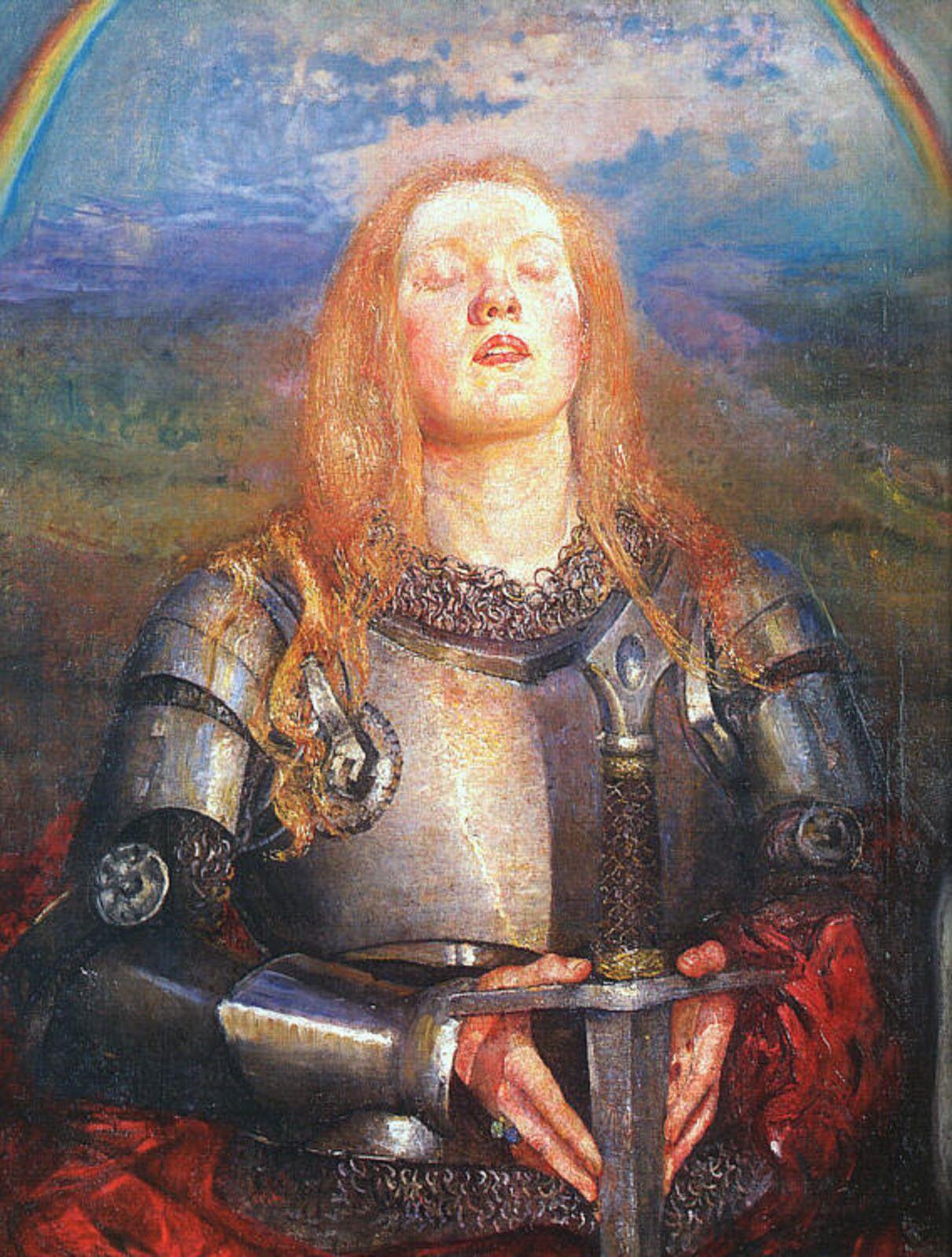 GLAUBE - JOHANNA VON ORLEANS, Gemälde von Annie Louisa Swynnerton
