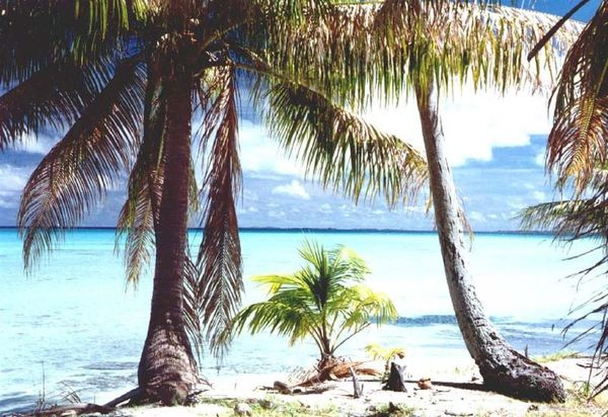 Atoll d'Aratika (Polynésie Française)... a 20 000 km d'Halluin.