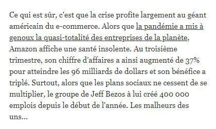 """Dans les médias (202) : L'Express : fermeture des rayons """"non-essentiels"""""""