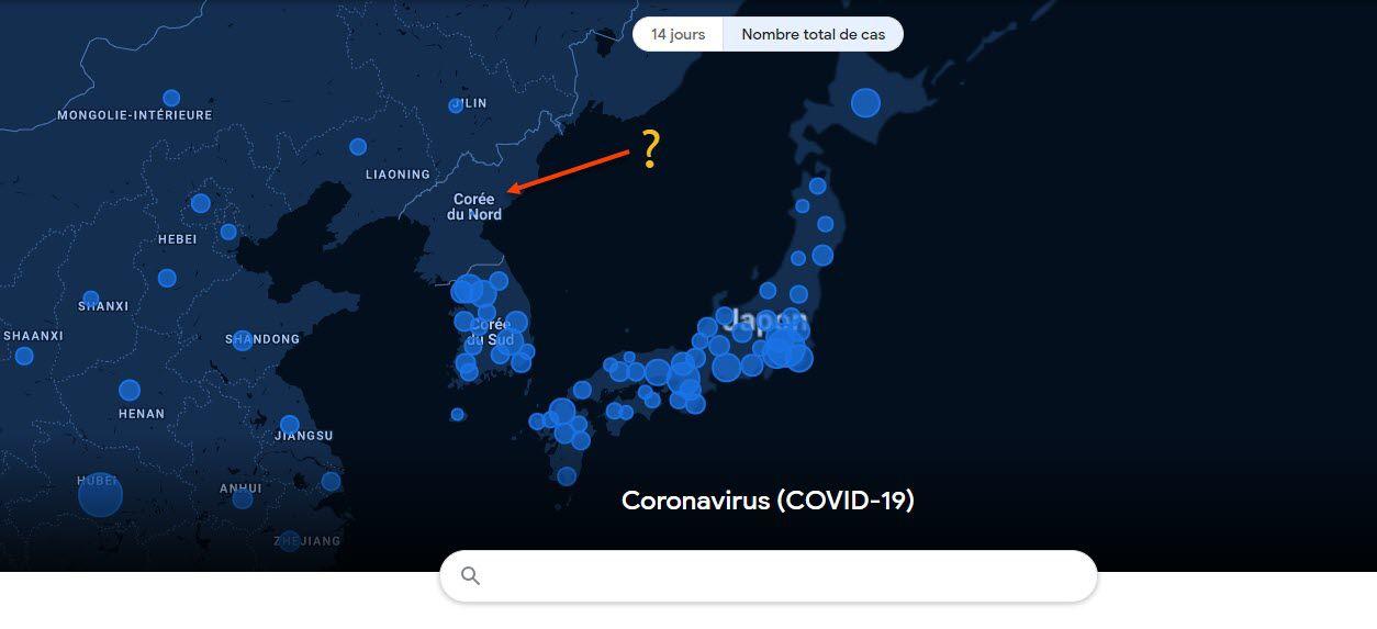 Cartographie 2D par Google: COVID 19 au 02 déc. 2020