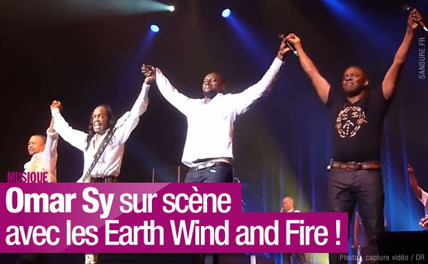 Omar Sy sur scène avec les Earth Wind and Fire ! #September