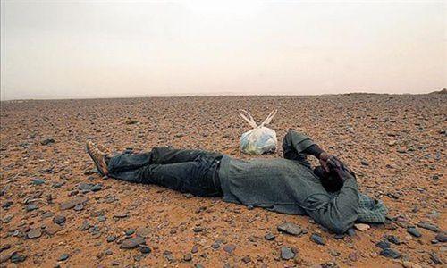 Imágenes de muerte y tráfico de subsaharianos en el desierto del Sáhara.- El Muni.