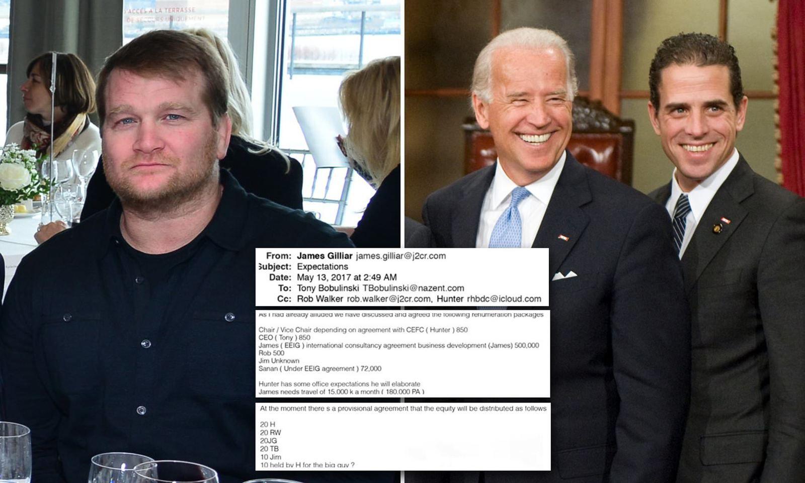 La référence au « Big Guy » dans le courriel du 13 mai 2017, très médiatisé, est en fait une référence à Joe #Biden », a déclaré M. Bobulinski dans une déclaration à Fox News