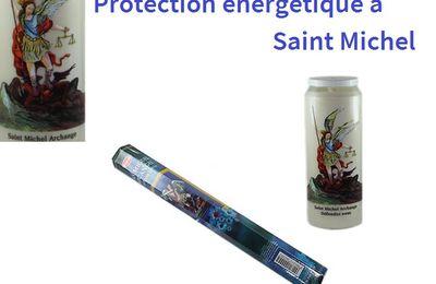 Bougie et Encens de protection énergétique consacrés à l'Ange Saint Michel pour lutter contre le mal