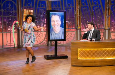 """Tiësto was on """"The Noite"""" on SBT, a Brazilian TV, for an interview with the presenter Danilo Gentili"""