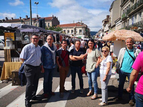 Samedi 22 juin 2019 à la rencontre des commerçants, des forains et des appelous lors de la traditionnelle braderie organisée par les Vitrines de Firminy. (8 photos)