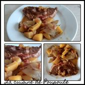 Côte de porc aux endives, pommes de terre à la bière brune - La cuisine de poupoule