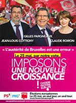 Le 25 mai, je voterai pour la Liste PS/PRG menée par Gilles PARGNEAUX #PE2014 #NotreEurope