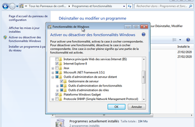 Installer la console RSAT sous Windows 7