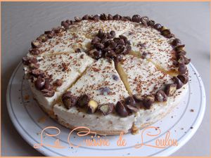 Honeycomb cheesecake (sans cuisson)
