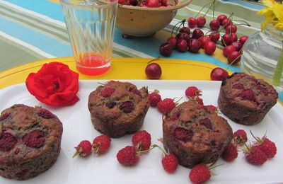 Muffins à la framboise ( 2 ).