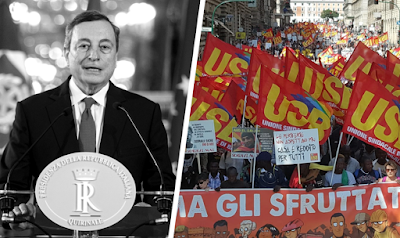 Le syndicat italien USB condamne le gouvernement Draghi
