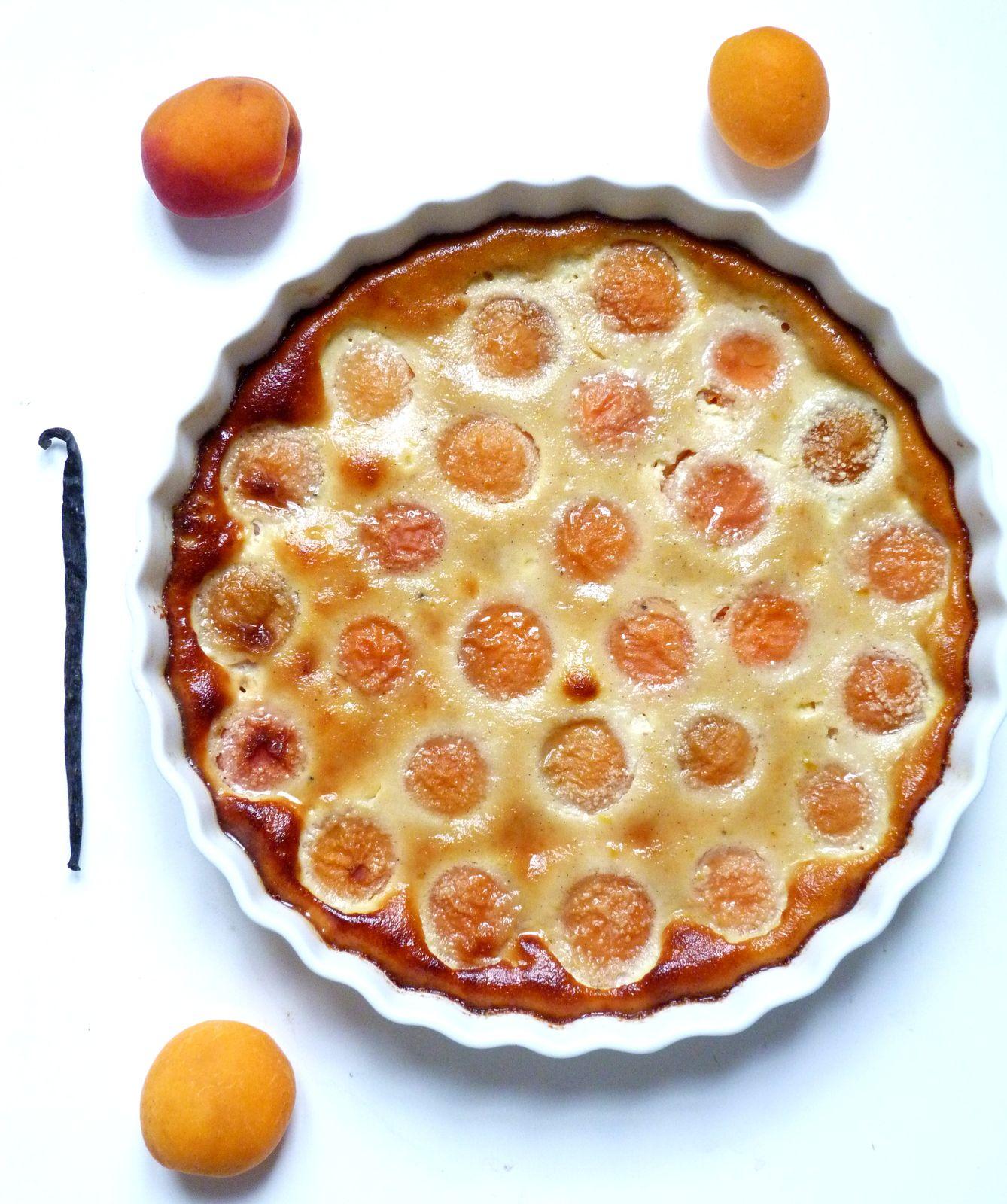 Clafoutis aux abricots et vanille