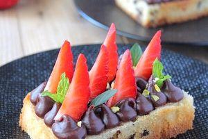 Tartines Moelleuses Fraises & Chocolat