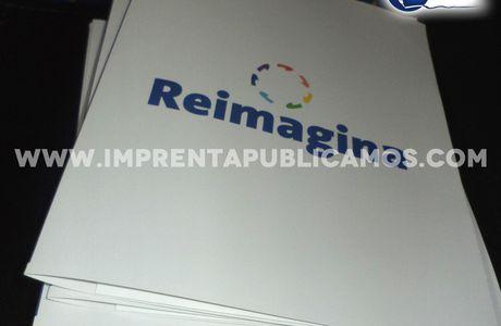 Diseño e impresión de Carpetas Corporativas para Reimagina