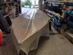 Fabrication de la passerelle et du taud pour la Yole Ok