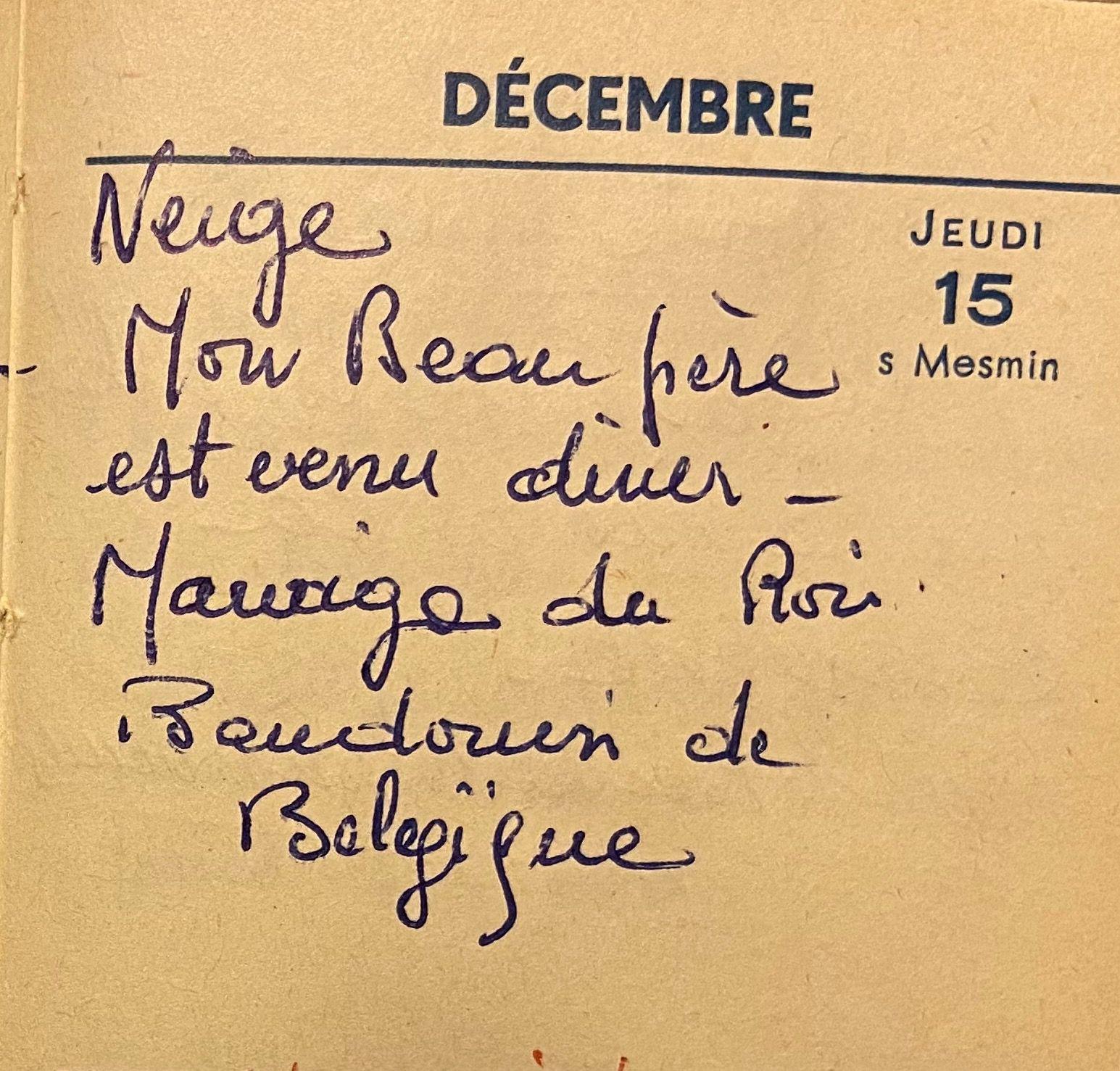Jeudi 15 décembre 1960 - Le mariage du roi Baudouin