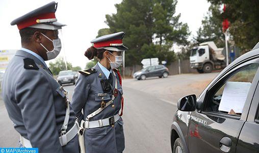 Maroc : policiers et gendarmes sur le terrain pour faire respecter le couvre-feu