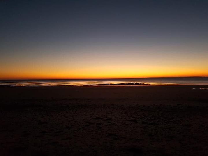 coucher ou lever de soleil