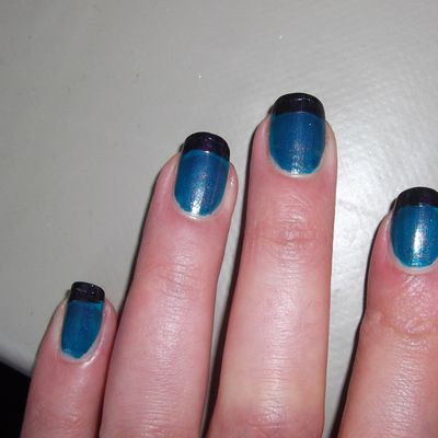 oOo Nail art : French spotted oOo