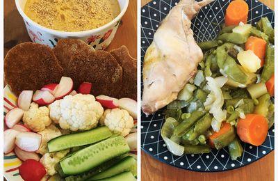 Mes repas et la recette de mon houmous allégé